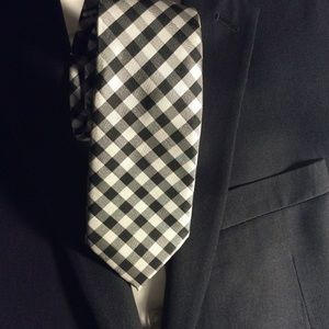 Pierre Cardin Slim Tie Black Grey and White New